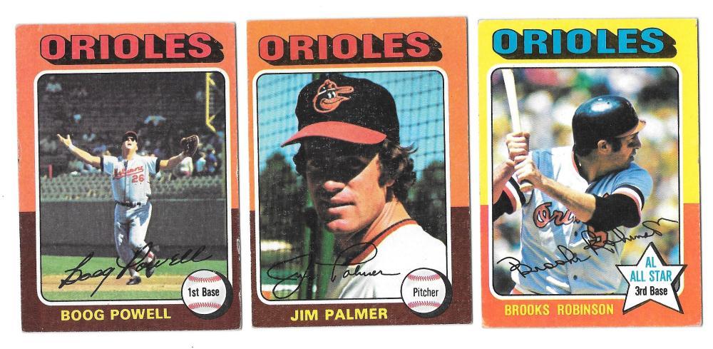 1975 Topps EX-EX+ BALTIMORE ORIOLES Team Set missing #117 Weaver