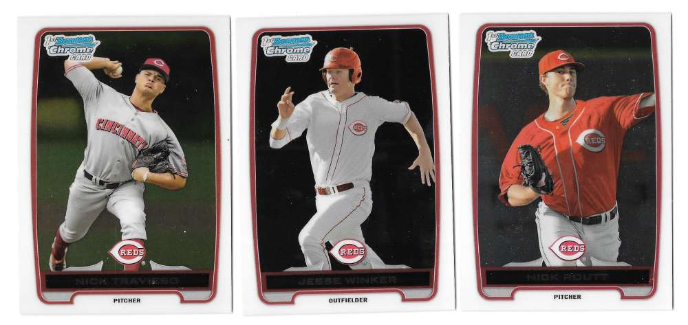 2012 Bowman Draft Chrome Draft Picks - CINCINNATI REDS Team Set