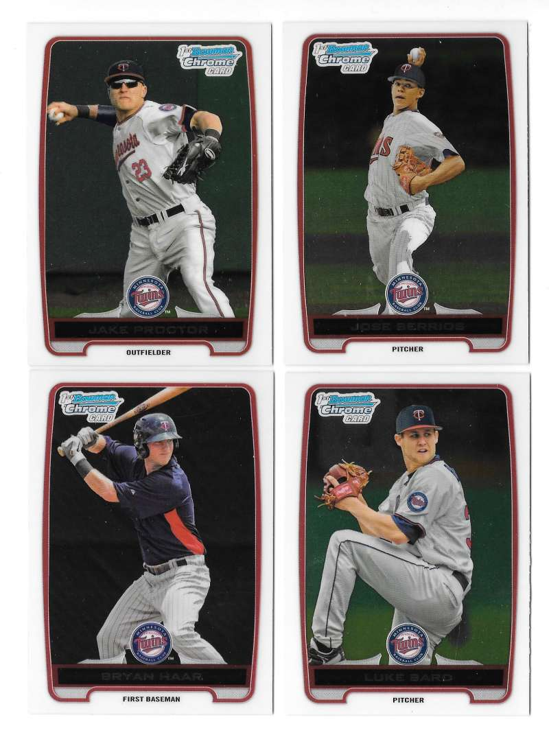 2012 Bowman Draft Chrome Draft Picks - MINNESOTA TWINS Team Set