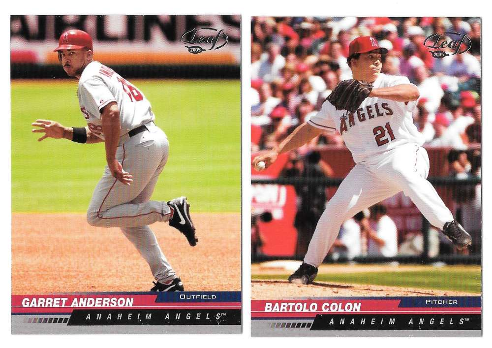 2005 Leaf (1-200 Base set) - LOS ANGELES ANGELS Team Set