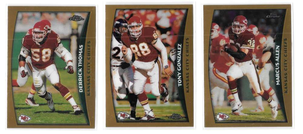 1998 Topps Chrome Football Team Set - KANSAS CITY CHIEFS