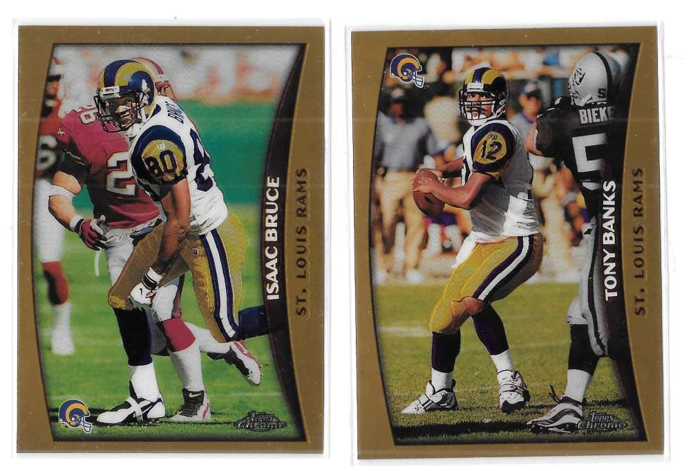 1998 Topps Chrome Football Team Set - ST. LOUIS RAMS