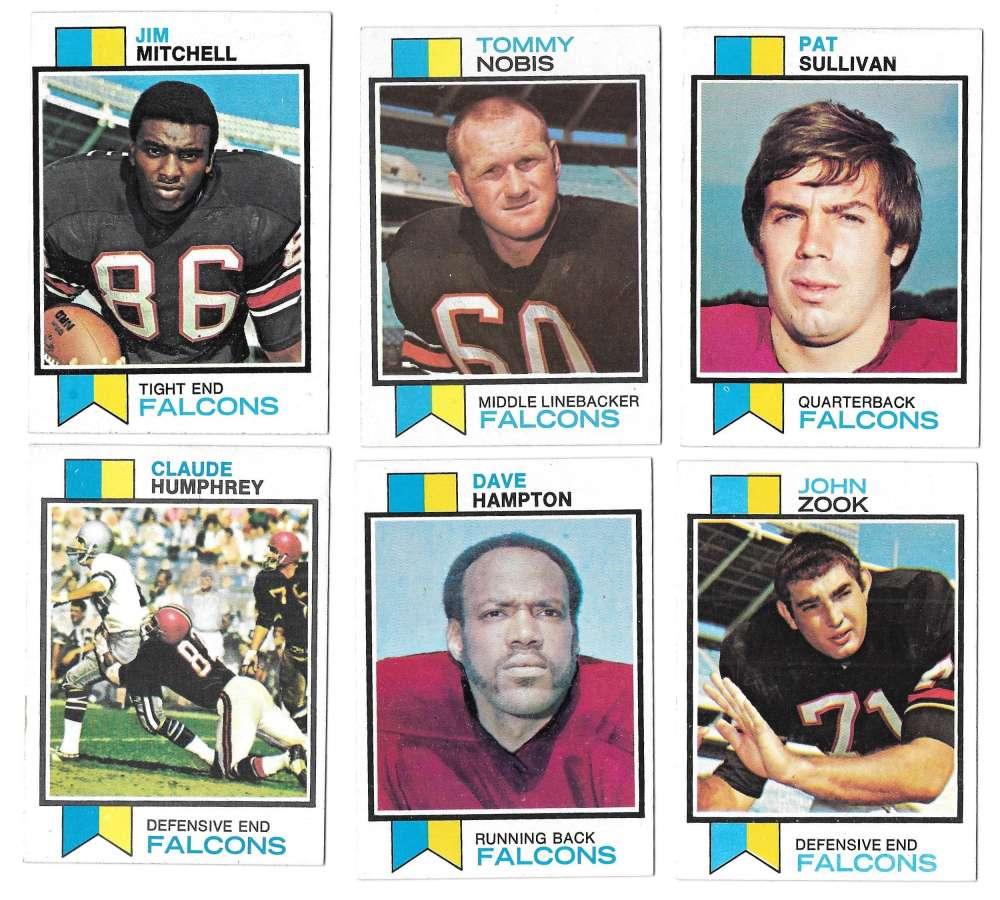 1973 Topps Football Team Set (EX+ Condition) (B) - ATLANTA FALCONS