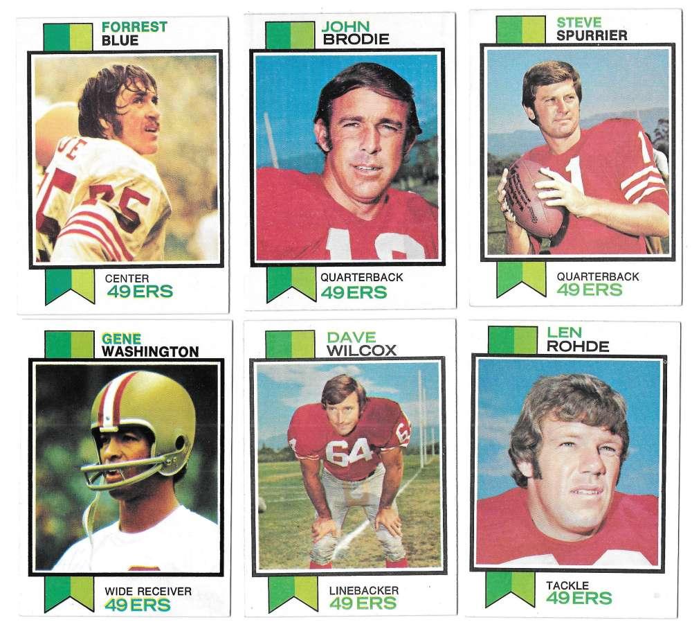 1973 Topps Football Team Set (EX+ Condition) (B) - SAN FRANCISCO 49ERS