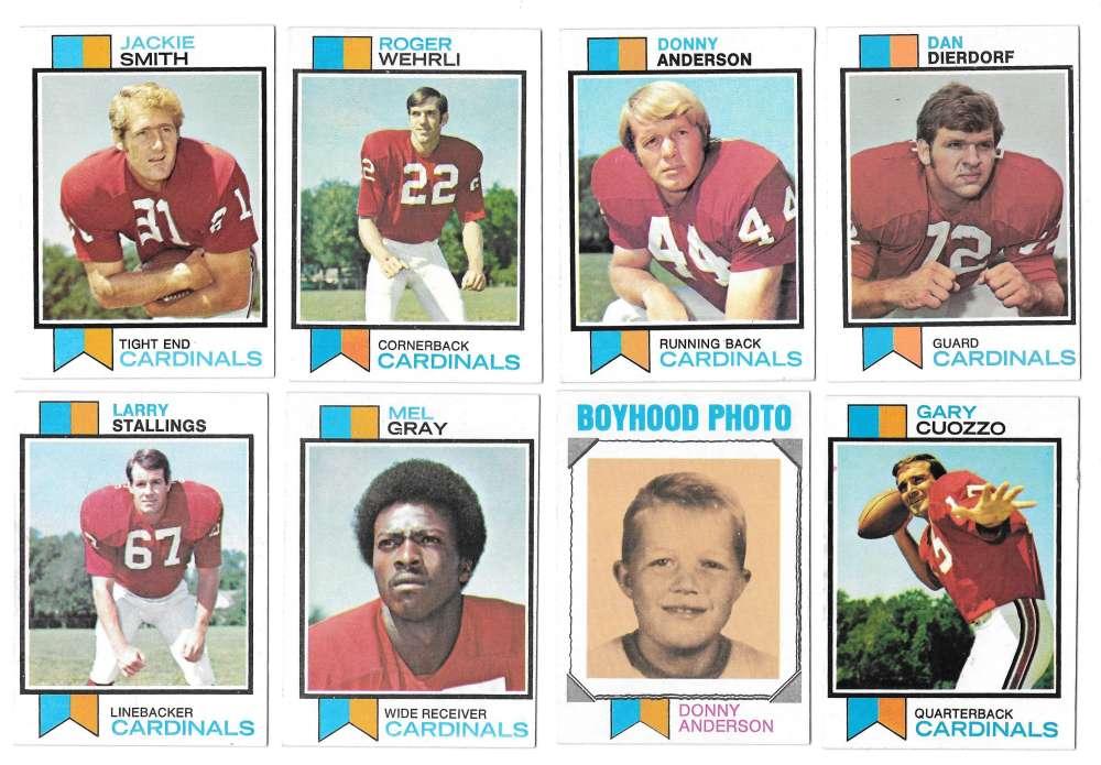 1973 Topps Football Team Set (EX+ Condition) (B) - ST LOUIS CARDINALS