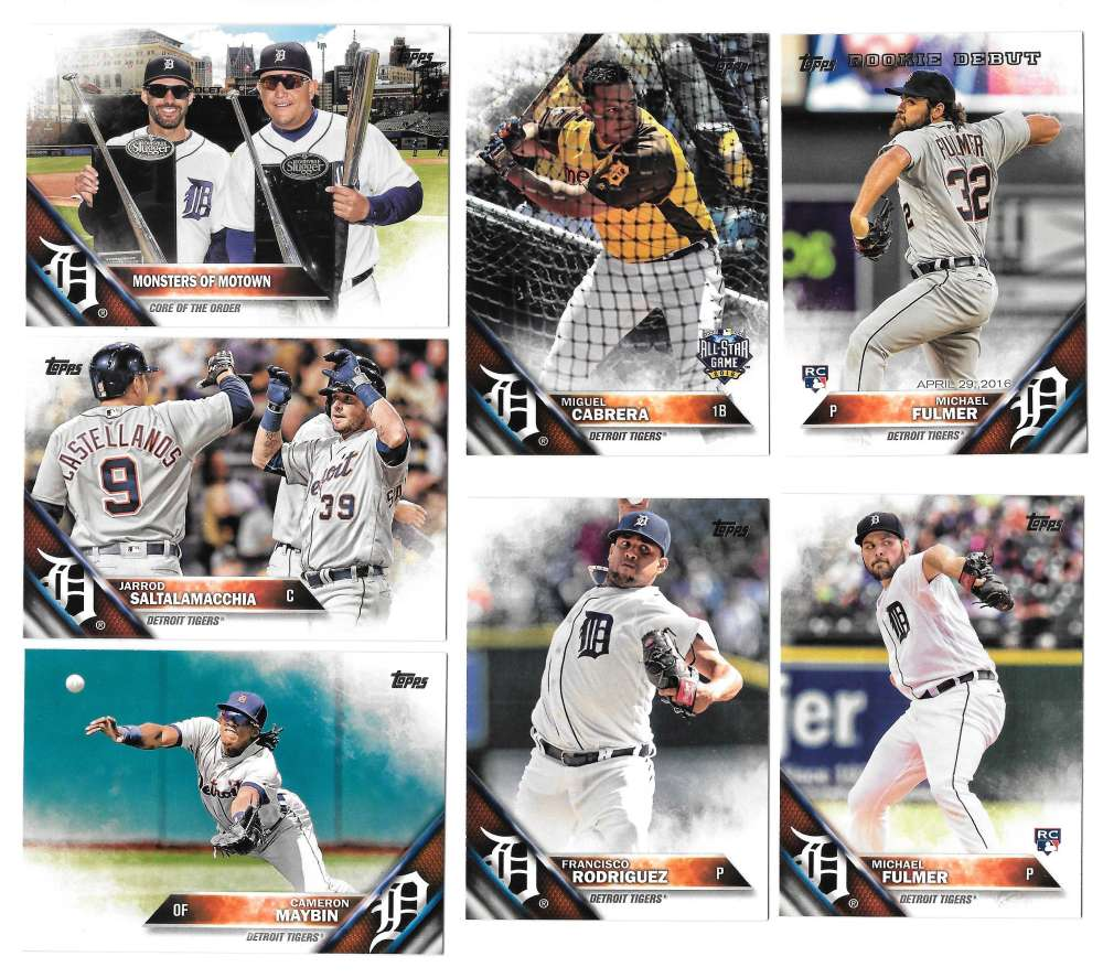 2016 Topps Update - DETROIT TIGERS Team Set