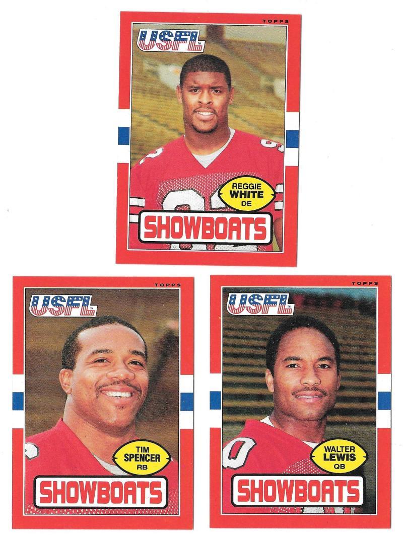 1985 Topps USFL Football Team Set - Memphis Showboats  w/ REGGIE WHITE