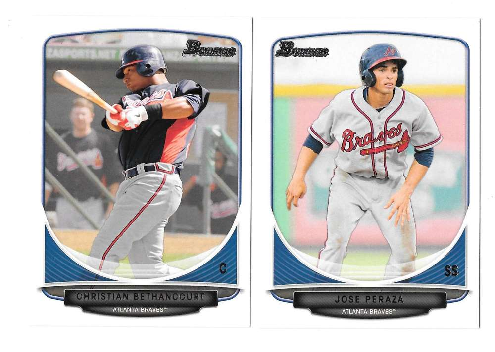 2013 Bowman Prospects - ATLANTA BRAVES Team Set