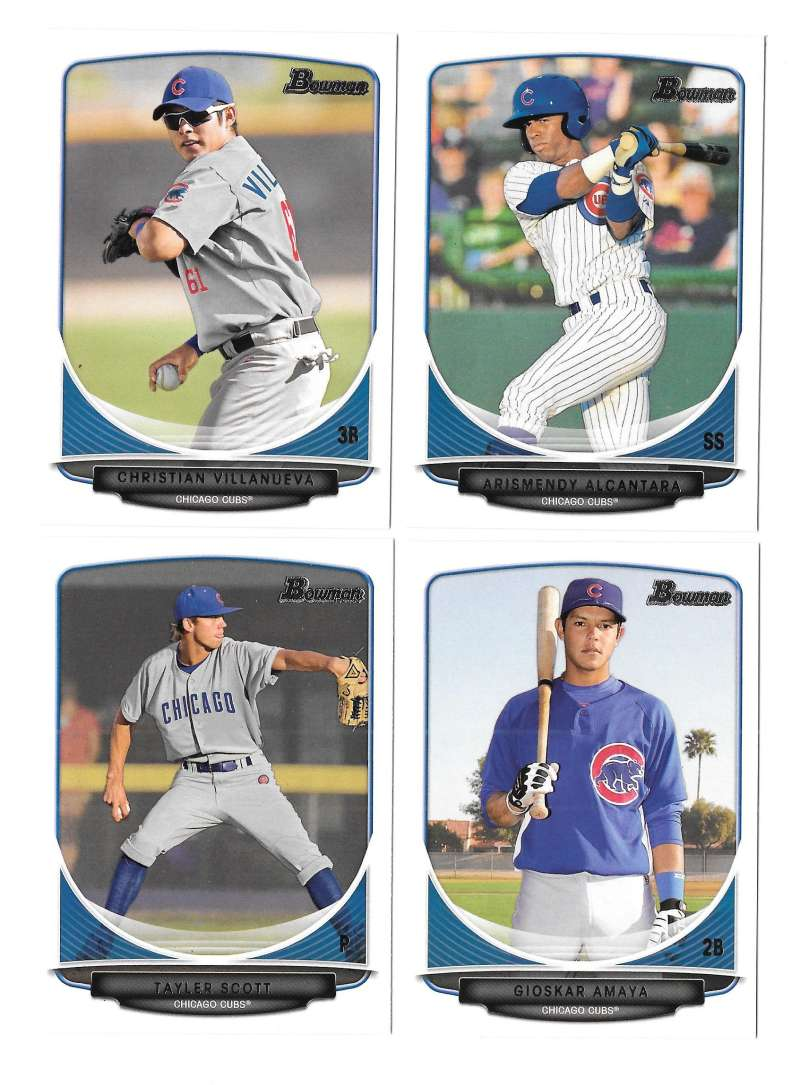 2013 Bowman Prospects - CHICAGO CUBS Team Set