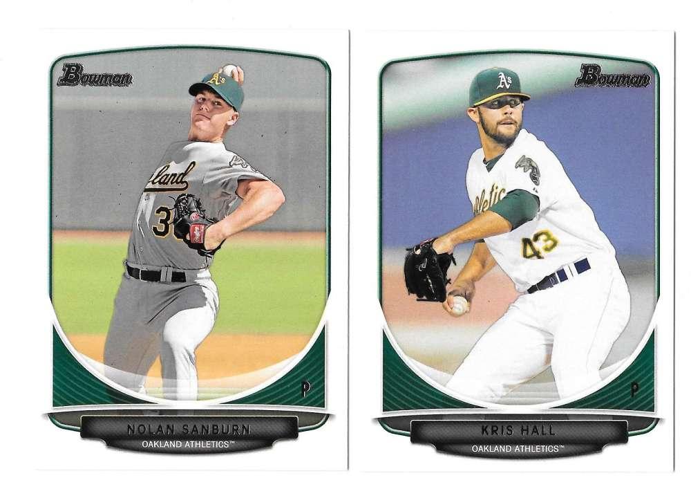 2013 Bowman Prospects - OAKLAND ATHLETICS / A'S Team Set