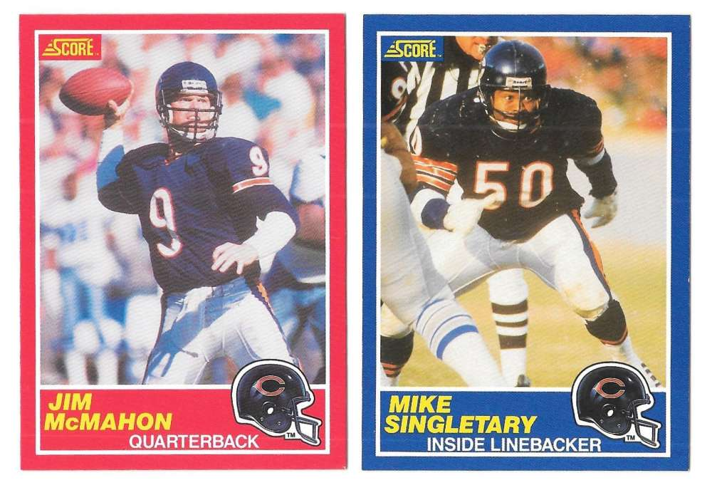 1989 Score Football Team Set - CHICAGO BEARS