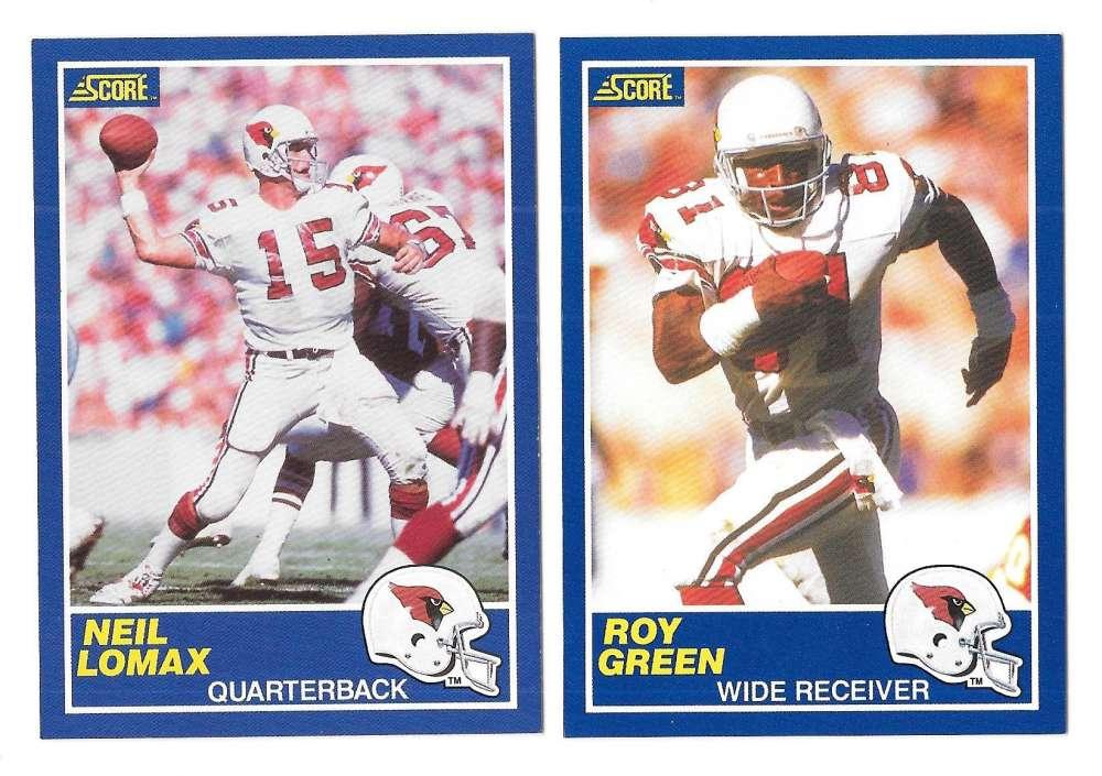 1989 Score Football Team Set - PHOENIX (Arizona) CARDINALS