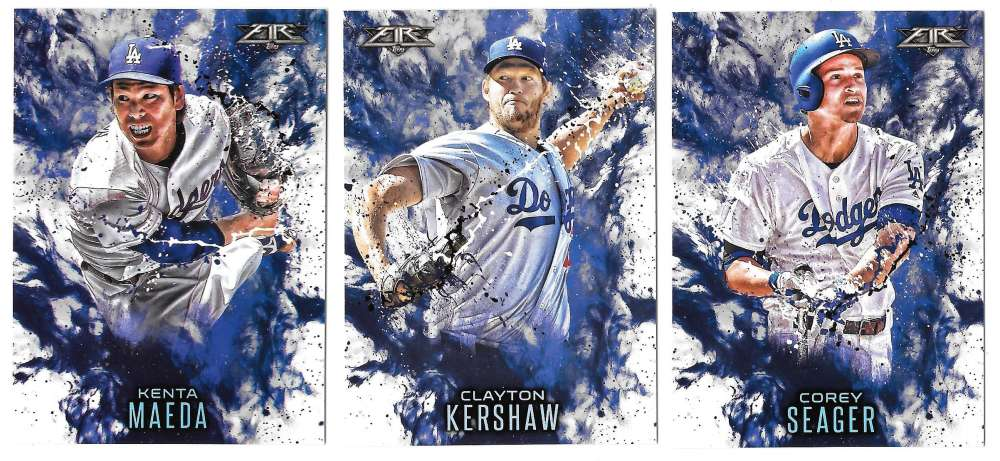 2016 Topps Update Fire - LOS ANGELES DODGERS
