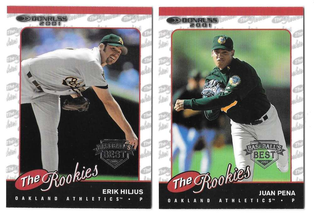 2001 Donruss The Rookies SILVER - OAKLAND ATHLETICS