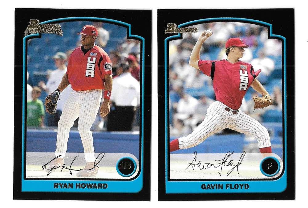 2003 Bowman Draft Picks - PHILADELPHIA PHILLIES Team Set - RYAN HOWARD RC