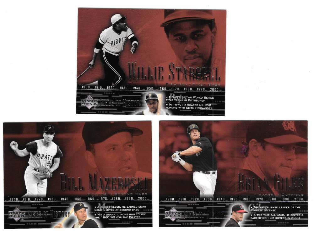 2002 Upper Deck Piece of History (Base) - PITTSBURGH PIRATES Team Set
