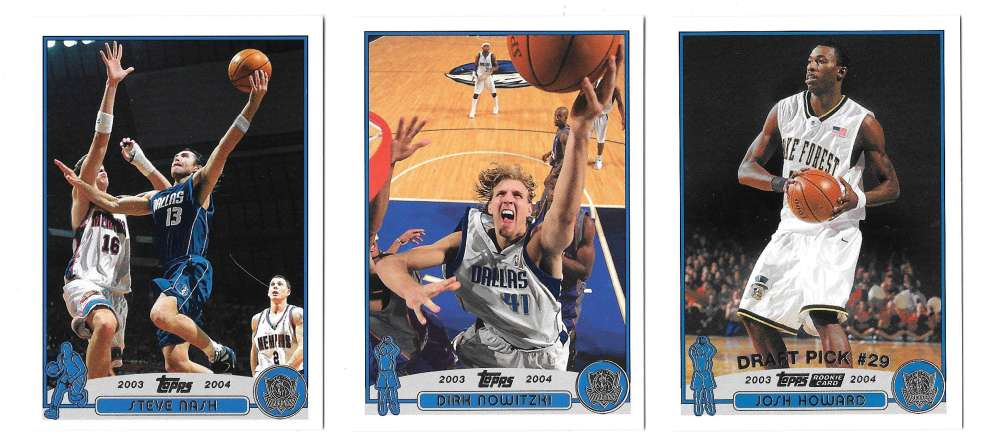 2003-04 Topps (1-249) Basketball Team Set - Dallas Mavericks