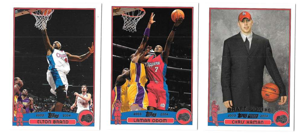 2003-04 Topps (1-249) Basketball Team Set - Los Angeles Clippers