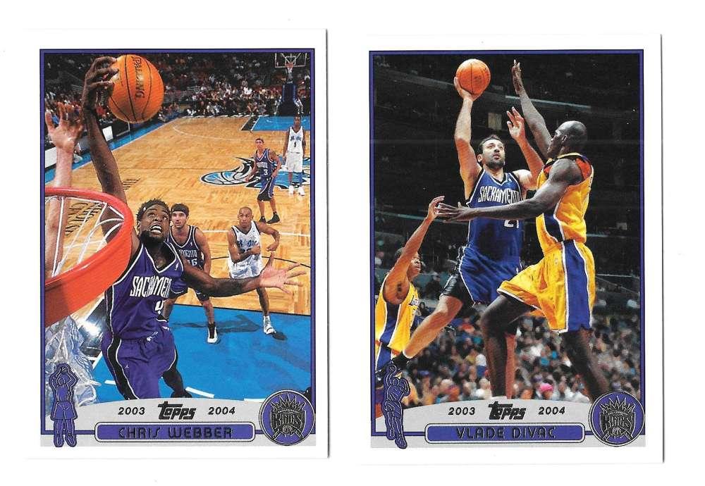 2003-04 Topps (1-249) Basketball Team Set - Sacramento Kings