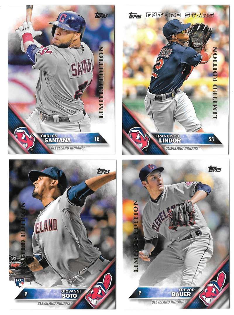 2016 Topps Limited Edition (Tiffany) - CLEVELAND INDIANS Team Set