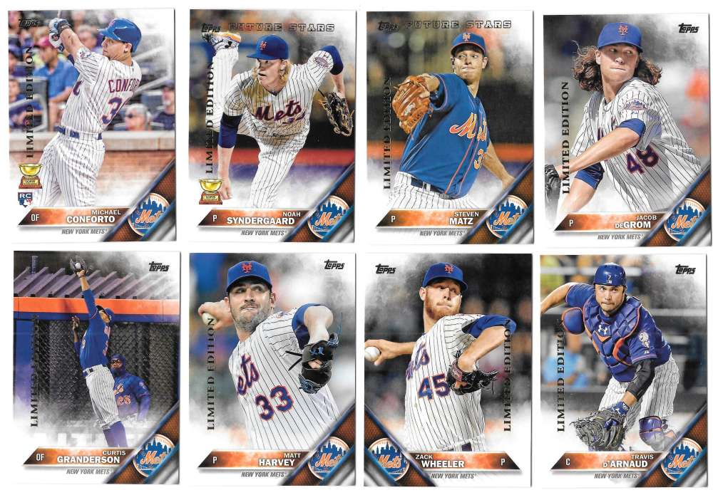 2016 Topps Limited Edition (Tiffany) - NEW YORK METS Team Set