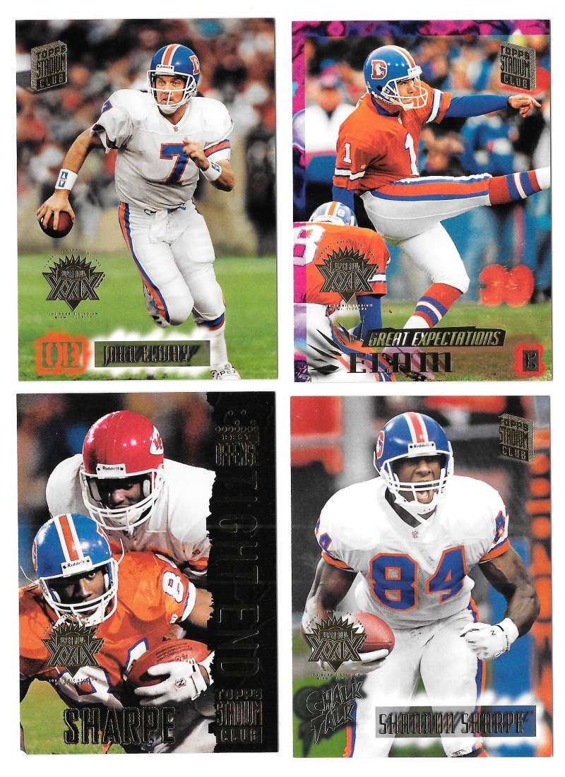 1994 Topps Stadium Club Super Team Super Bowl Set - DENVER BRONCOS