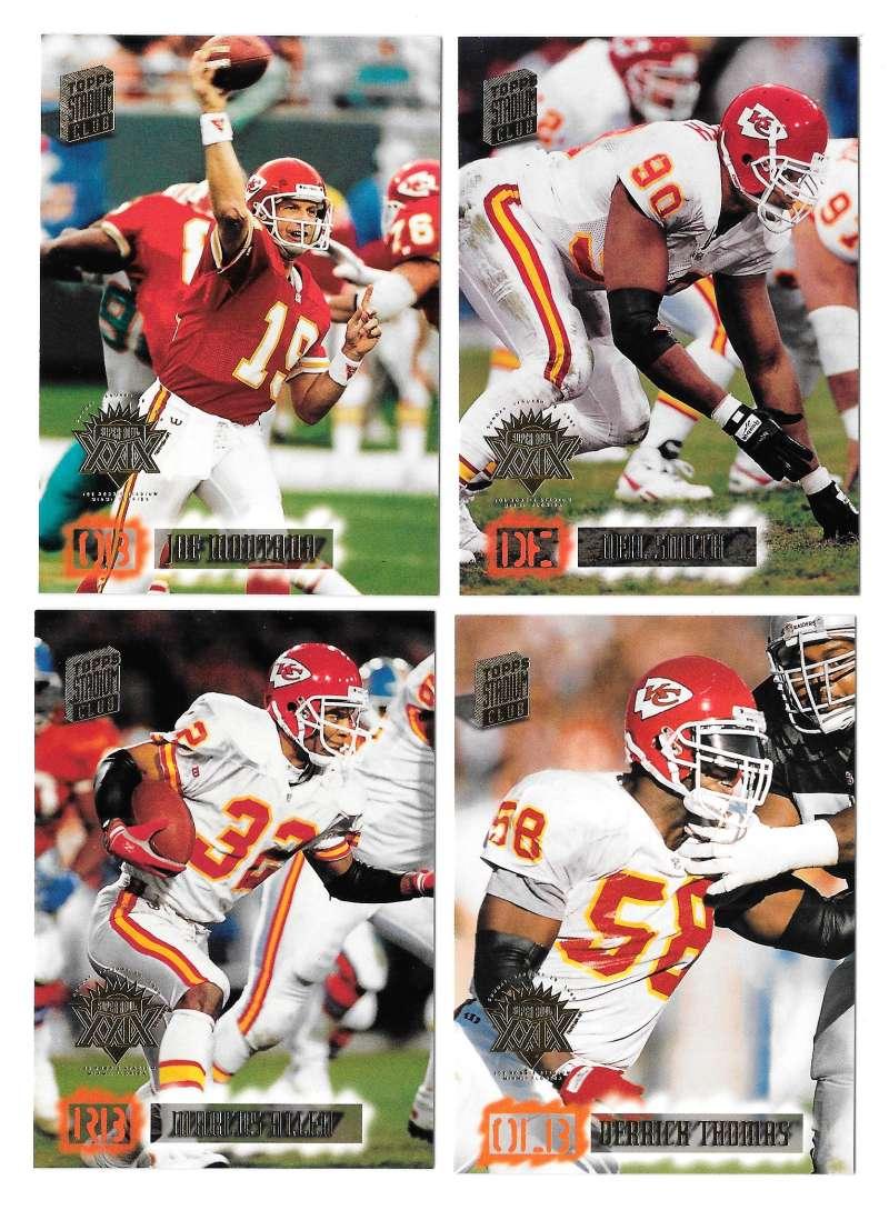 1994 Topps Stadium Club Super Team Super Bowl Set - KANSAS CITY CHIEFS