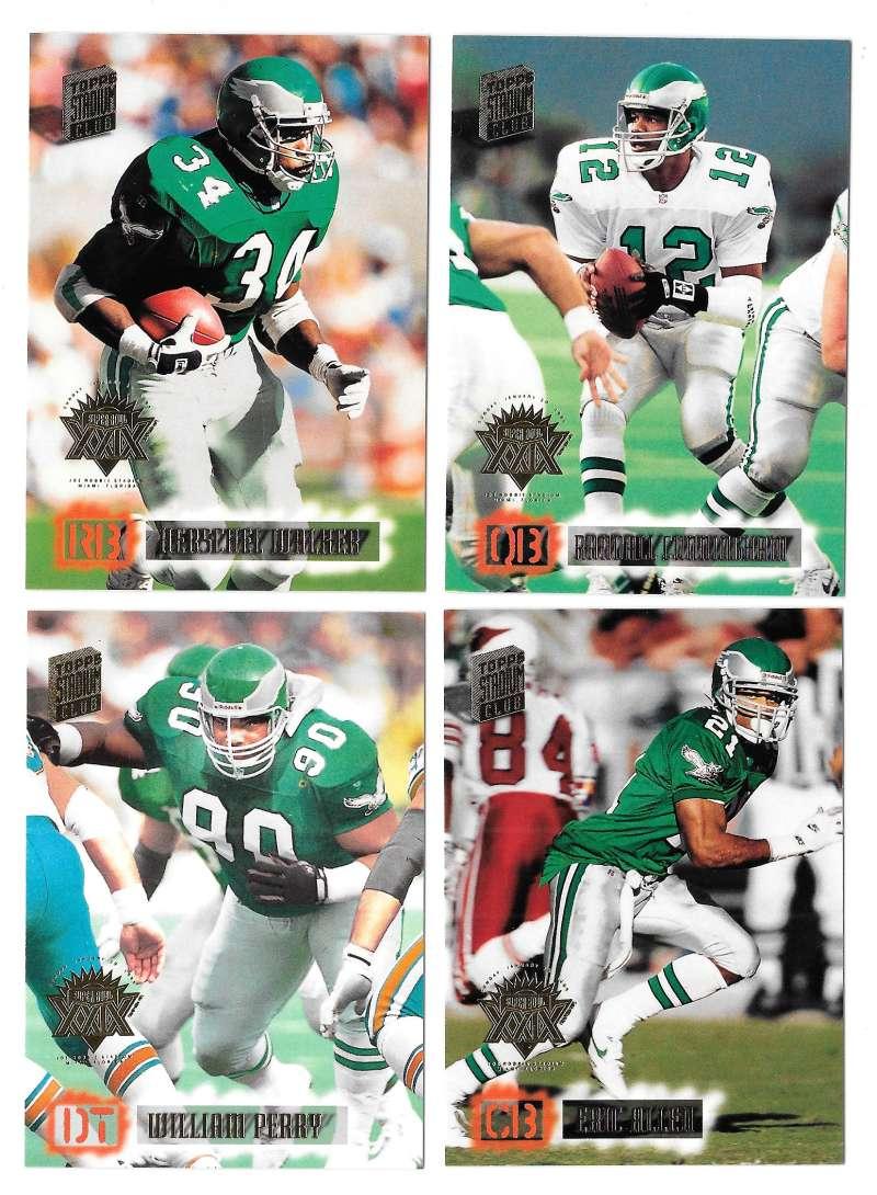 1994 Topps Stadium Club Super Team Super Bowl Set - PHILADELPHIA EAGLES