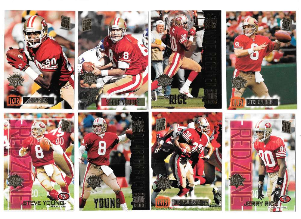 1994 Topps Stadium Club Super Team Super Bowl Set - SAN FRANCISCO 49ERS