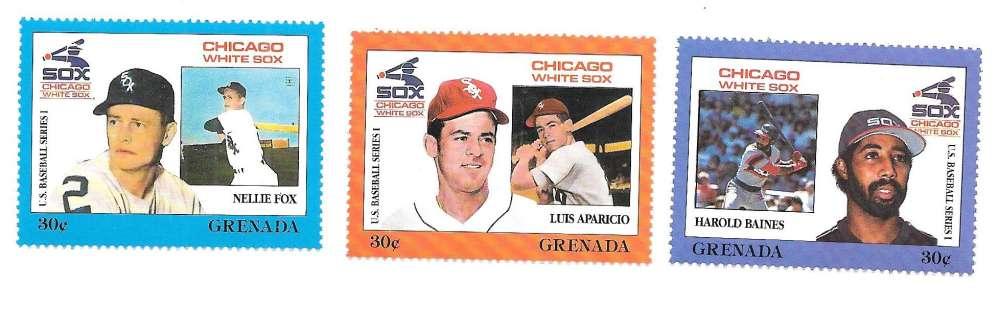 1988 GRENADA STAMPS - CHICAGO WHITE SOX