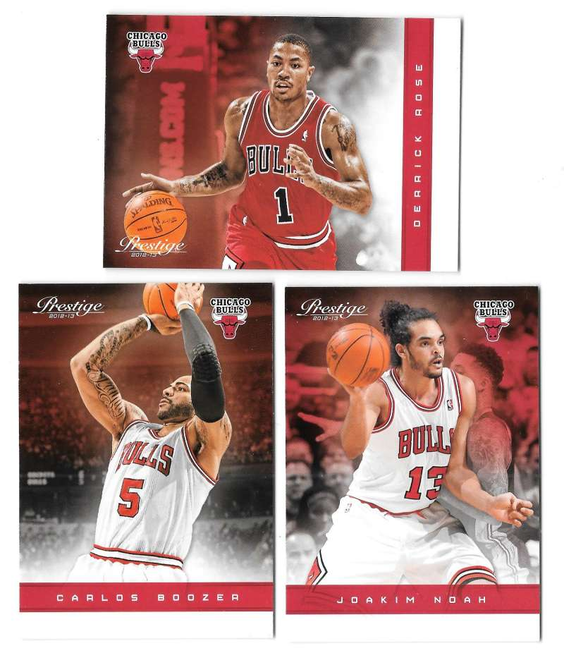 2012-13 Prestige (Panini) 1-150 Basketball Team Set - Chicago Bulls