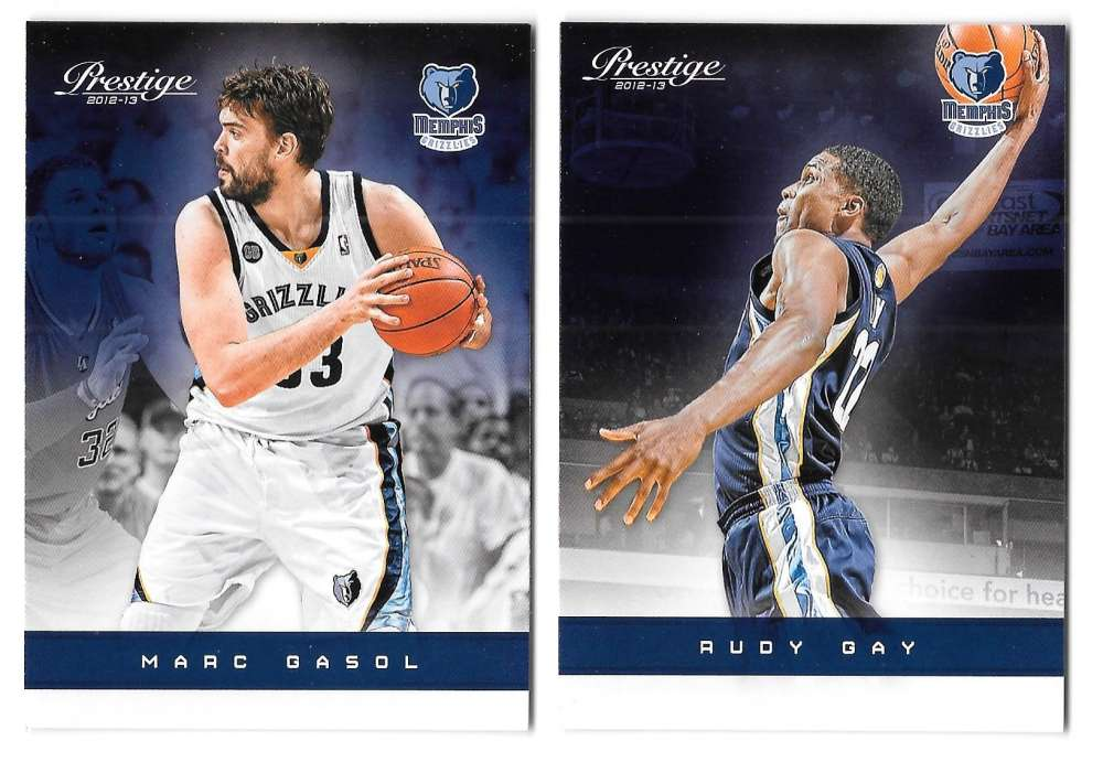 2012-13 Prestige (Panini) 1-150 Basketball Team Set - Memphis Grizzlies
