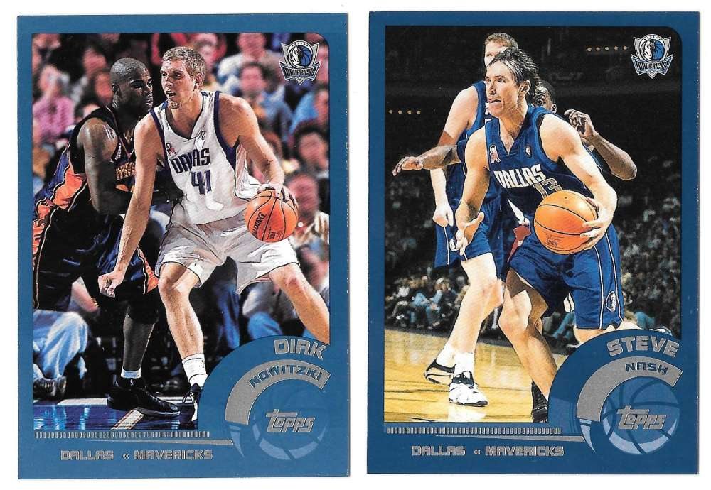 2002-03 Topps Basketball Team Set - Dallas Mavericks
