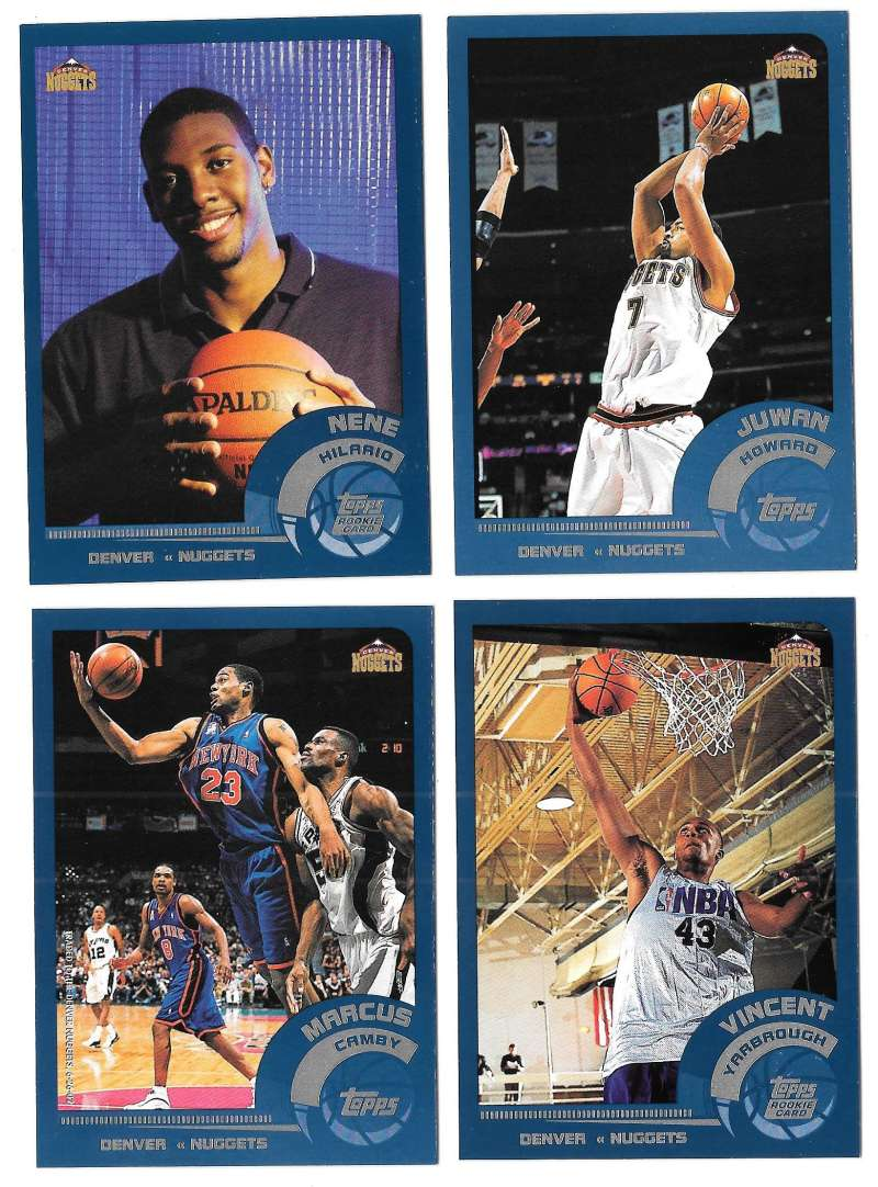 2002-03 Topps Basketball Team Set - Denver Nuggets