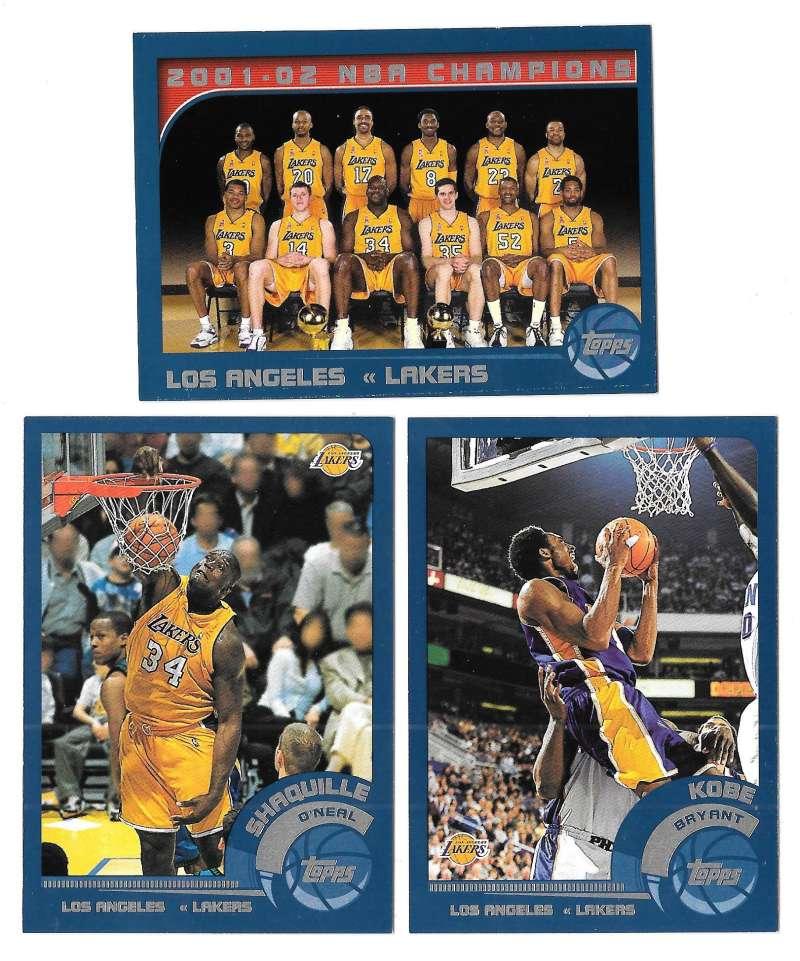 2002-03 Topps Basketball Team Set - Los Angeles Lakers