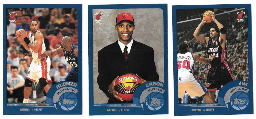 2002-03 Topps Basketball Team Set - Miami Heat