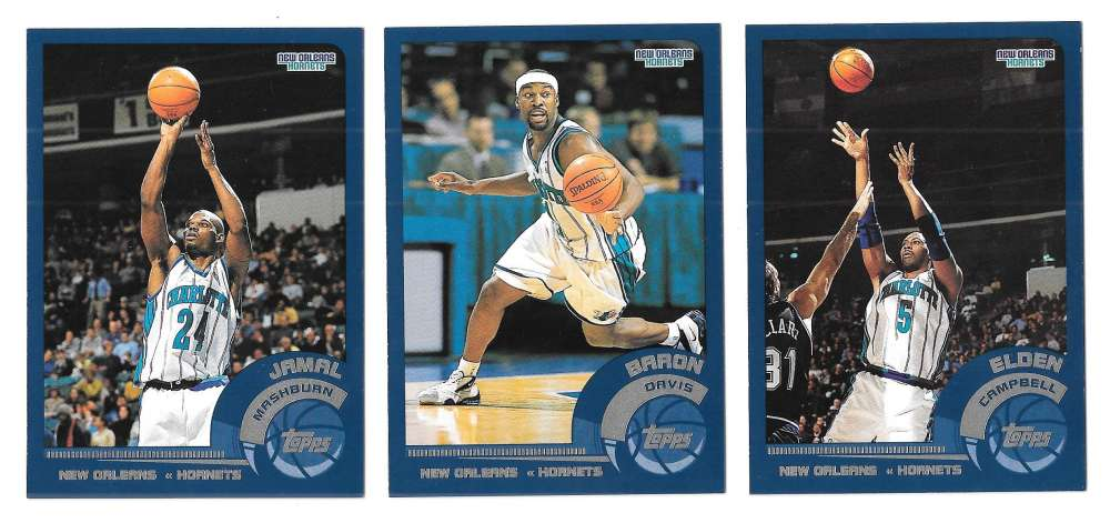 2002-03 Topps Basketball Team Set - New Orleans Hornets
