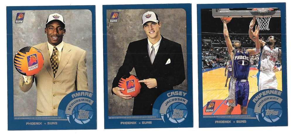 2002-03 Topps Basketball Team Set - Phoenix Suns
