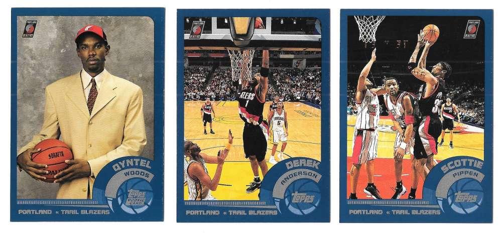 2002-03 Topps Basketball Team Set - Portland Trail Blazers