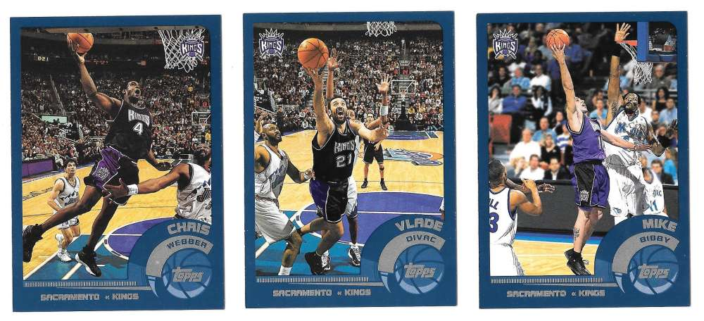 2002-03 Topps Basketball Team Set - Sacramento Kings