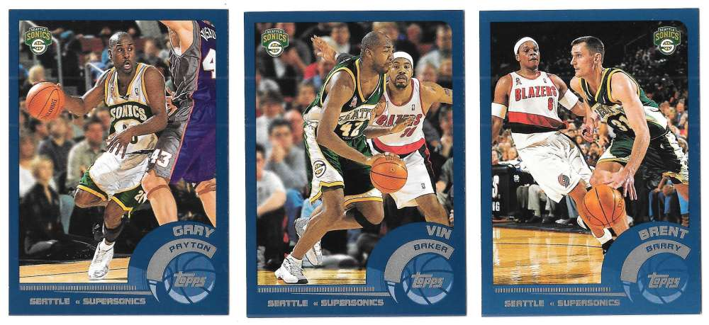 2002-03 Topps Basketball Team Set - Seattle Supersonics
