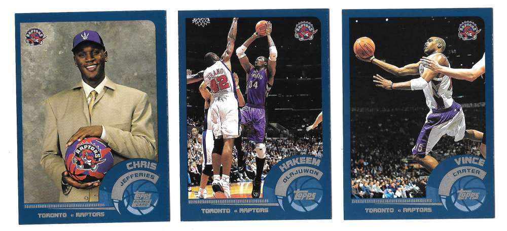 2002-03 Topps Basketball Team Set - Toronto Raptors
