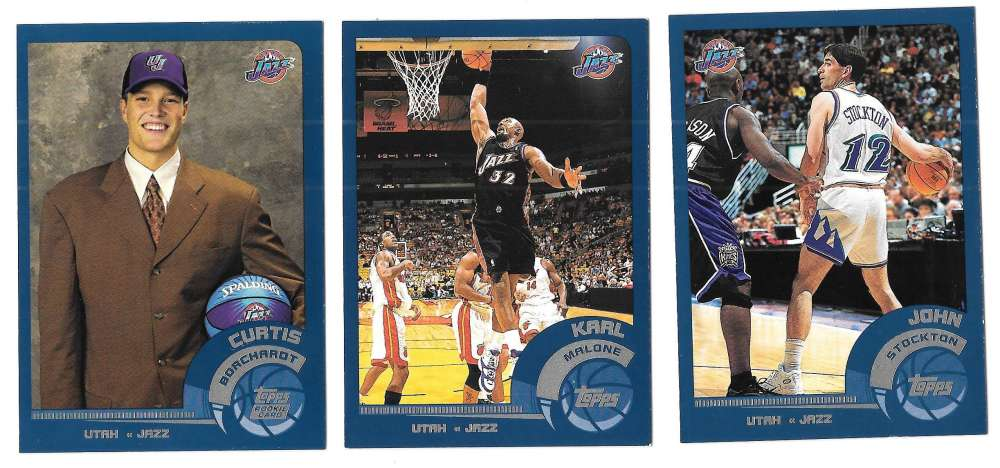 2002-03 Topps Basketball Team Set - Utah Jazz