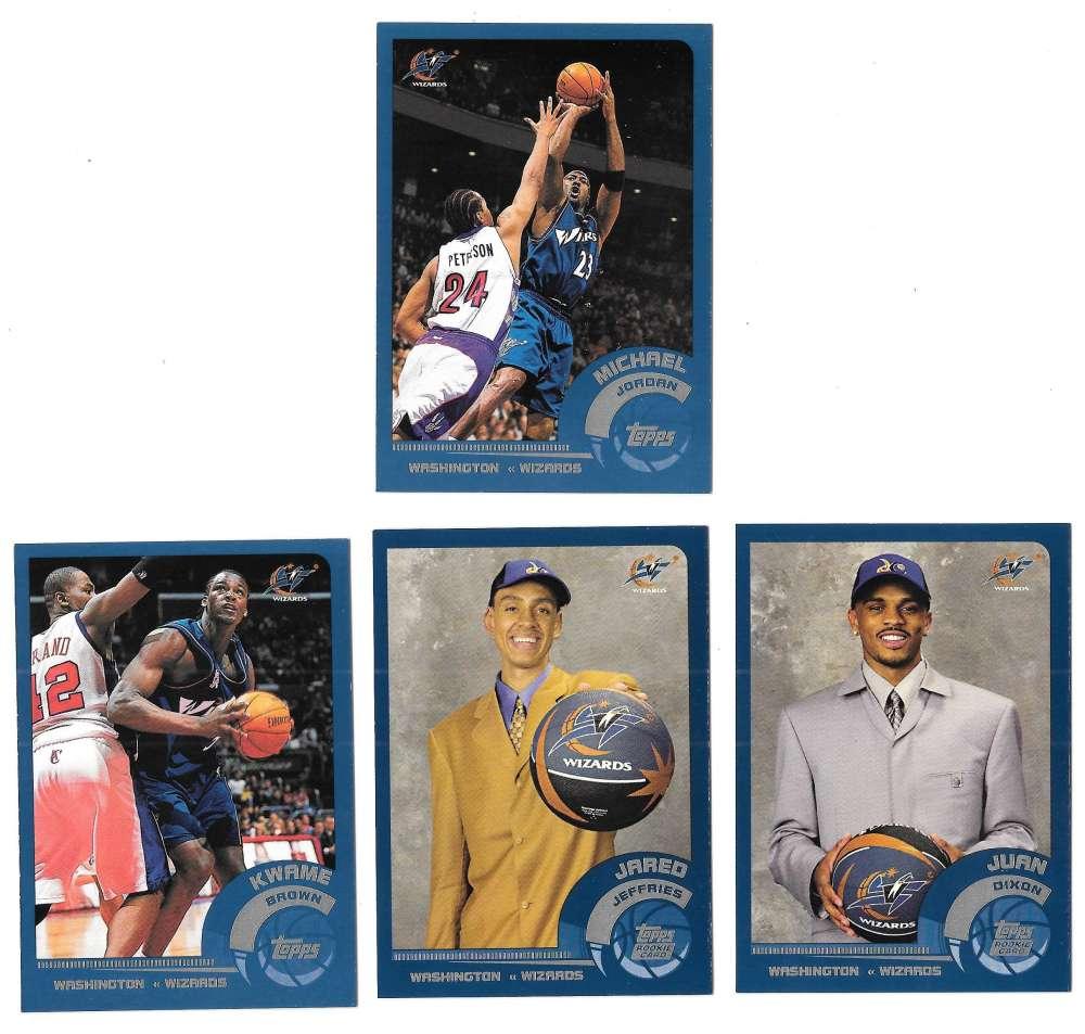 2002-03 Topps Basketball Team Set - Washington Wizards