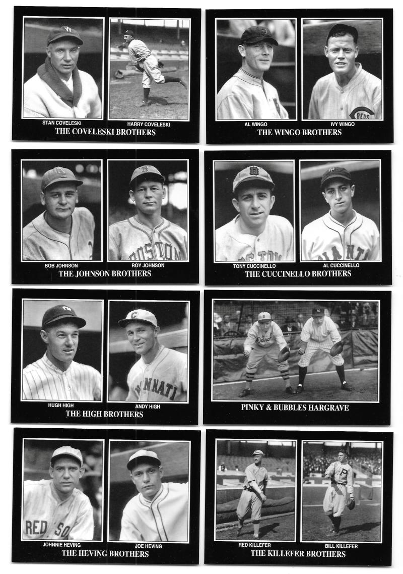 1994 Conlon - 8 card Brothers Subset lot