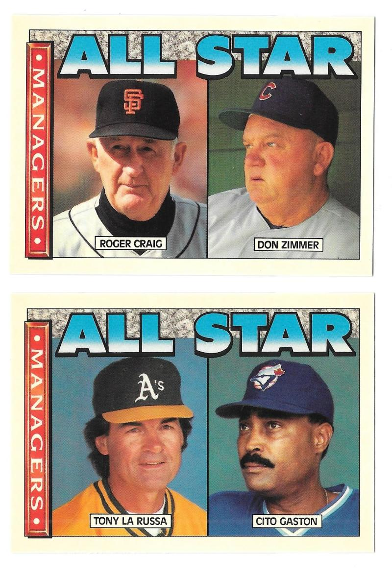 1990 Topps TV Glossy All-Stars - 2 Card Managers set