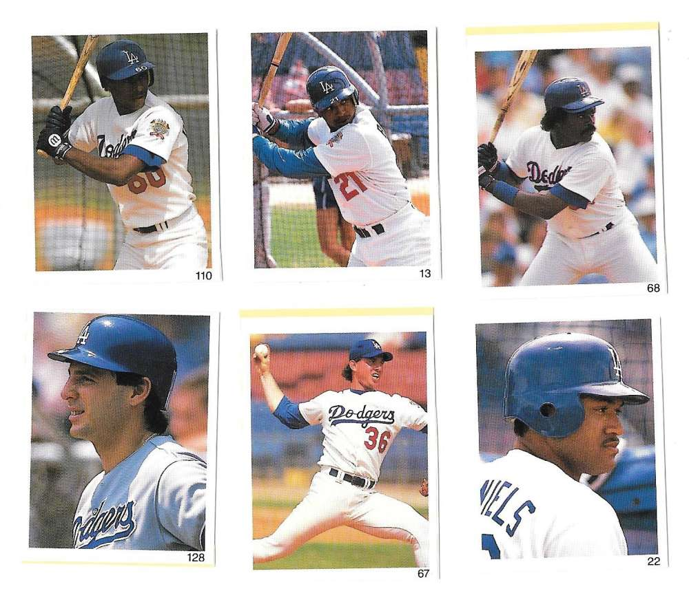 1991 Red Foley Stickers - LOS ANGELES DODGERS Team Set