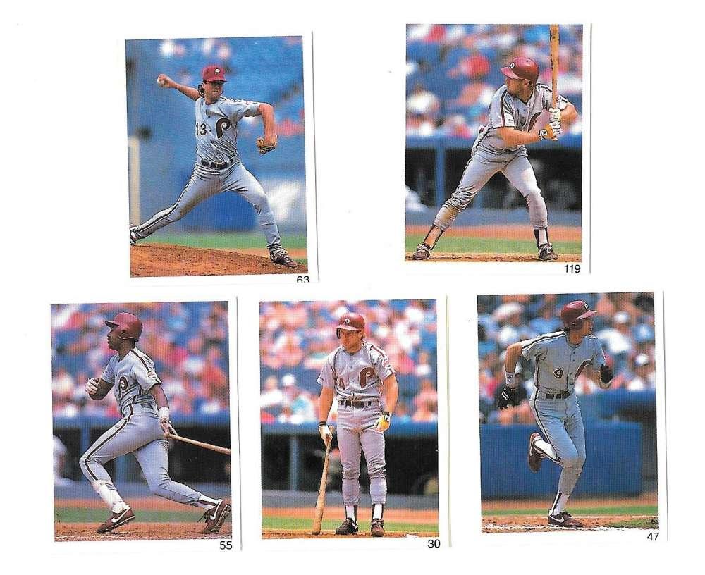 1991 Red Foley Stickers - PHILADELPHIA PHILLIES Team Set