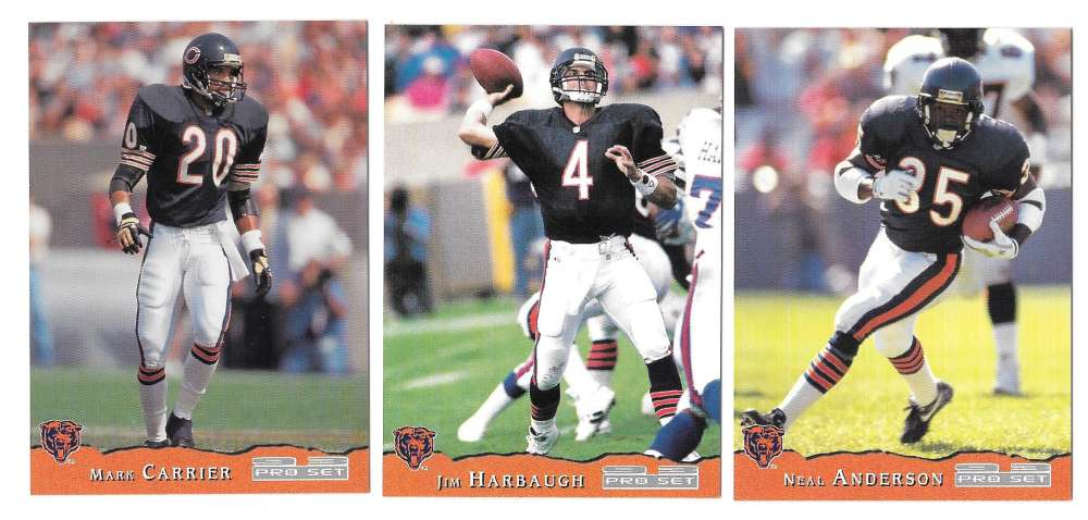 1993 Pro Set Football Team Set - CHICAGO BEARS