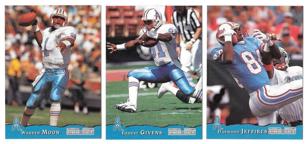 1993 Pro Set Football Team Set - HOUSTON OILERS